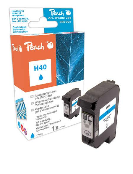 Peach Tête d'impression  cyan, compatible avec ID-Fabricant: No. 40, 51640CE HP Color Copier 210