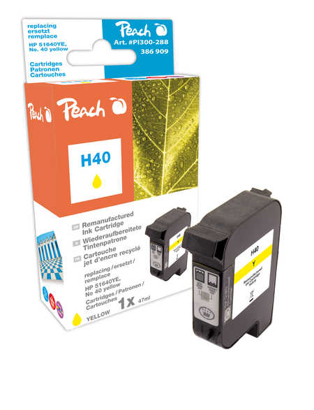 Peach Tête d'impression  jaune, compatible avec ID-Fabricant: No. 40, 51640YE HP Color Copier 210