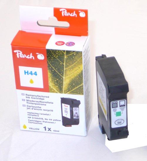 Peach Tête d'impression  jaune, compatible avec ID-Fabricant: No. 44, 51644YE HP DesignJet 350 C