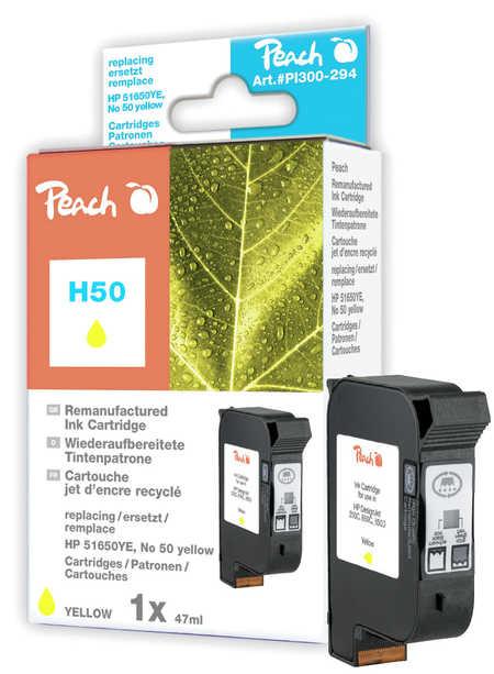 Peach Tête d'impression  jaune, compatible avec ID-Fabricant: No. 50, 51650YE HP DesignJet 250 C