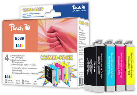 Peach  Multi Pack, compatible avec ID-Fabricant: T0895 Epson Stylus Office BX 300 F