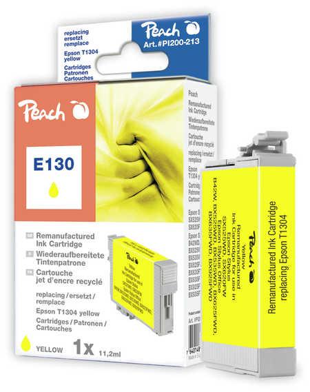 Peach Cartouche d'encre  jaune, compatible avec ID-Fabricant: T1304 Epson Stylus Office BX 625 FWD