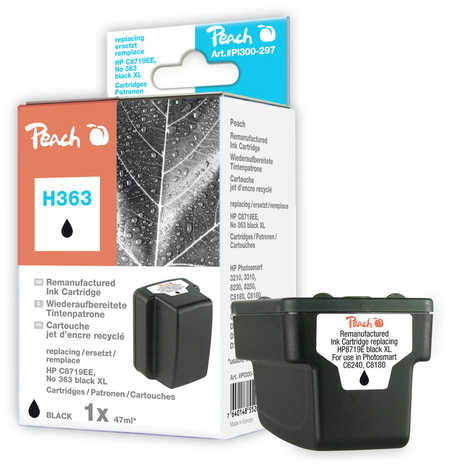 Peach  Ink Cartridge black HC compatible with ID-Fabricant: No. 363, C8719EE HP PhotoSmart 8250