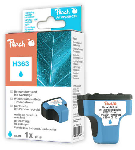 Peach  Ink Cartridge cyan compatible with ID-Fabricant: No. 363, C8771EE HP PhotoSmart 8250