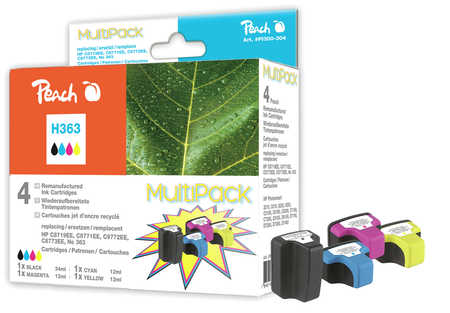 Peach  Multi Pack compatible with ID-Fabricant: No. 363 HP PhotoSmart 8250