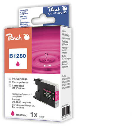Peach  XL-Ink Cartridge magenta, compatible with ID-Fabricant: LC-1280 m Brother MFCJ 6510 DW