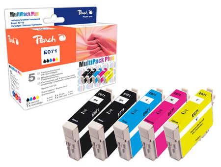 Peach Multipack Plus  compatible avec ID-Fabricant: T071 (2xT0711, T0712, T0713, T0714) Epson Stylus D 78