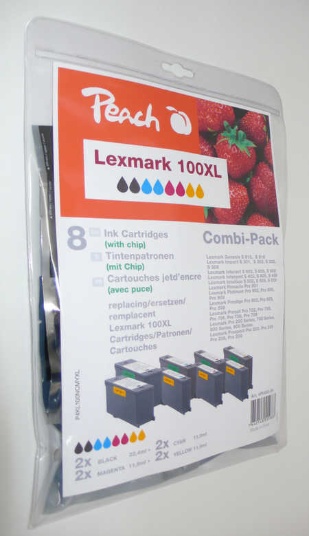 Peach  Multipack avec puce, compatible avec ID-Fabricant: Nr. 100XL Lexmark Pro 900 Series