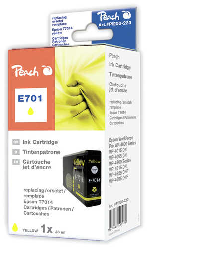 Peach  cartouche d'encre jaune XL, compatible avec ID-Fabricant: T7014 Epson WorkForce Pro WP-4095 DN