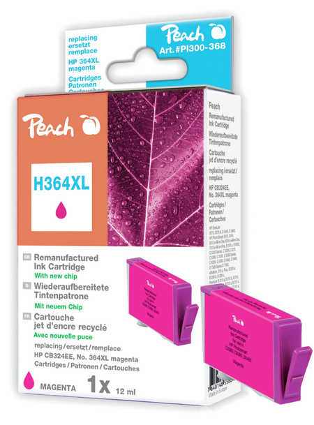 Peach  Ink Cartridge magenta compatible with ID-Fabricant: No. 364XL, CB324EE HP PhotoSmart Premium C 410 Series