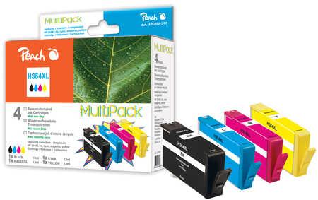 Peach Multipack  avec puce, compatible avec ID-Fabricant: No. 364XL HP PhotoSmart Premium C 410 Series