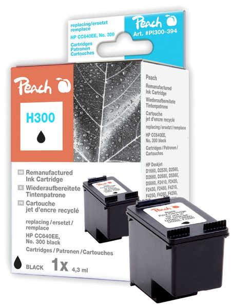 Peach Tête d'impression  noire, compatible avec ID-Fabricant: No. 300, CC640EE HP DeskJet F 4435