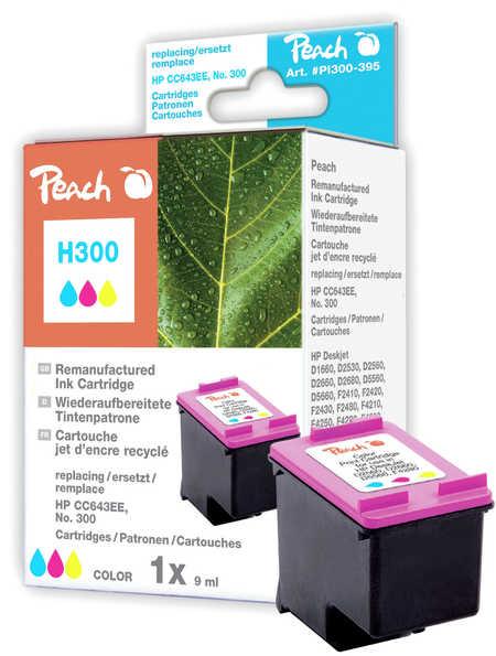 Peach Tête d'impression  couleur, compatible avec ID-Fabricant: No. 300, CC643EE HP DeskJet F 4435
