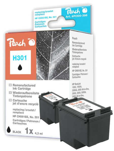 Peach Tête d'impression  noire, compatible avec ID-Fabricant: No. 301, CH561EE HP DeskJet 2050