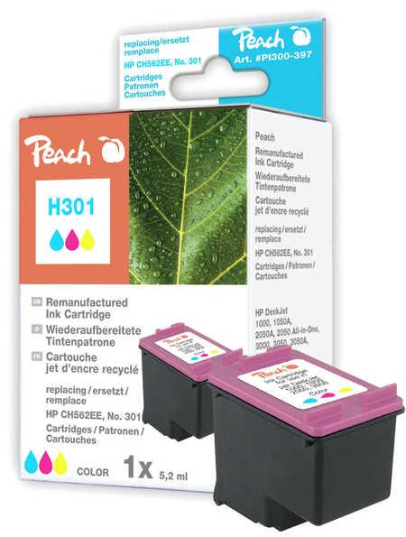 Peach Tête d'impression  couleur, compatible avec ID-Fabricant: No. 301, CH562EE HP DeskJet 2050