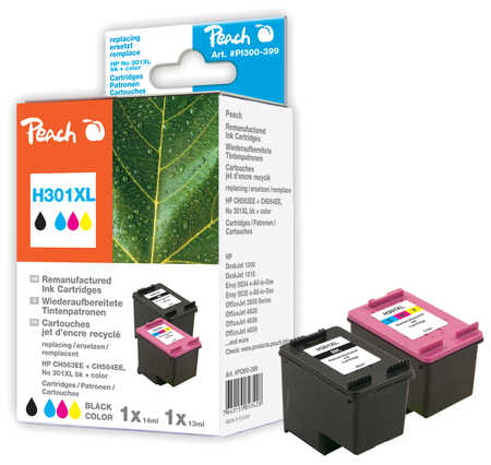 Peach  Multi Pack, compatible avec ID-Fabricant: No. 301XL, CH563EE, CH564EE HP DeskJet 2050
