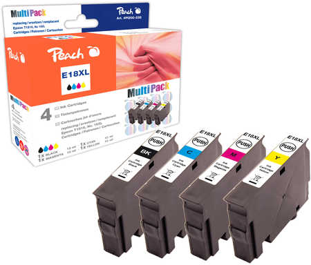 Peach  Multi Pack, compatible avec ID-Fabricant: No. 18XL, T1816 Epson Expression Home XP-302