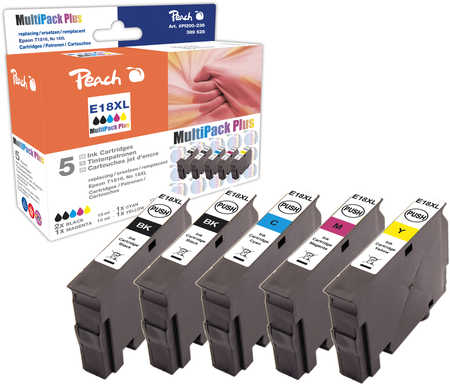 Peach Multipack Plus  compatible avec ID-Fabricant: No. 18XL, T1816 Epson Expression Home XP-302
