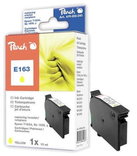 Peach Cartouche d'encre  jaune, compatible avec ID-Fabricant: No. 16XL y, T1634 Epson WorkForce WF-2530 WF