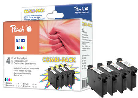 Peach  Multi Pack, compatible avec ID-Fabricant: No. 16XL, T1636 Epson WorkForce WF-2010 W