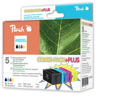 Peach Multipack Plus  avec puce compatible avec ID-Fabricant: No. 920XL HP OfficeJet 6500 Wireless