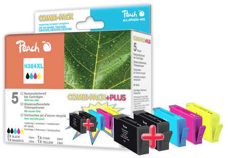 Peach Multipack Plus  avec puce compatible avec ID-Fabricant: No. 364XL HP PhotoSmart Premium C 410 Series