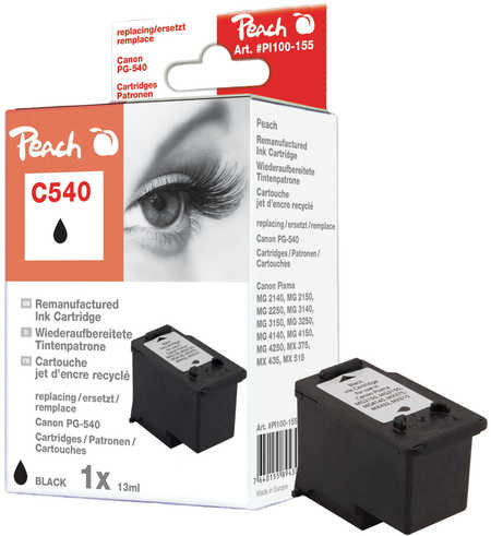 Peach  Print-head black compatible with ID-Fabricant: PG-540 Canon Pixma MG 2250
