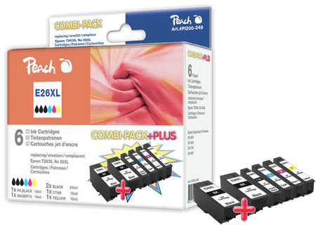 Peach  Multi Pack Plus, HY compatible avec ID-Fabricant: No. 26XL, T263 Epson Expression Premium XP-700