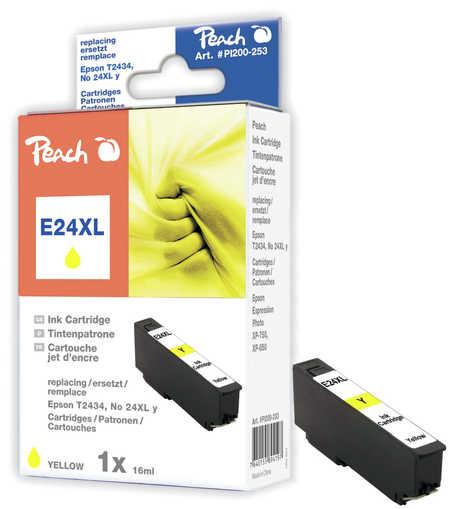 Peach Cartouche d'encre  HY jaune, compatible avec ID-Fabricant: No. 24XL y, T2434 Epson Expression Photo XP-950