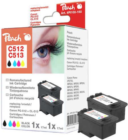 Peach  Multi Pack, compatible avec ID-Fabricant: PG-512, CL-513 Canon Pixma MP 240