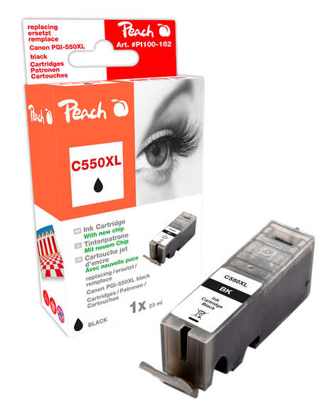 Peach  Ink Cartridge black compatible with ID-Fabricant: PGI-550, PGI-550PGBK XL Canon Pixma MX 725