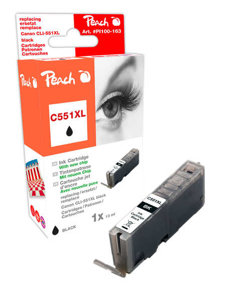 Peach  Ink Cartridge Photo black compatible with ID-Fabricant: CLI-551, CLI-551BK XL Canon Pixma MX 725