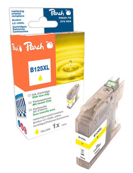 Peach Cartouche d'encre  jaune XL, compatible avec ID-Fabricant: LC-125XL Brother MFCJ 4310 DW