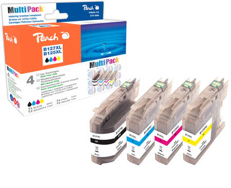 Peach Multipack , compatible avec ID-Fabricant: LC-125XL, LC-127XL Brother MFCJ 4310 DW