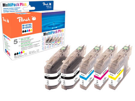 Peach Multipack Plus  compatible avec ID-Fabricant: LC-125XL, LC-127XL Brother MFCJ 4310 DW