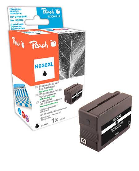 Peach  cartouche d'encre noire HC compatible avec ID-Fabricant: No. 932XL, CN053AE HP OfficeJet 6700 Premium