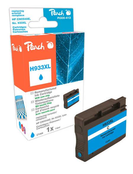 Peach  cartouche d'encre cyan HC compatible avec ID-Fabricant: No. 933XL, CN054AE HP OfficeJet 6700 Premium