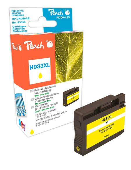 Peach  cartouche d'encre jaune HC compatible avec  ID-Fabricant: No. 933XL, CN056AE HP OfficeJet 6700 Premium