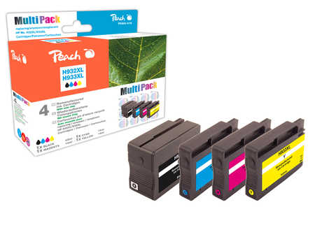 Peach Multipack  avec puce, compatible avec ID-Fabricant: No. 932XL, No. 933XL HP OfficeJet 6700 Premium