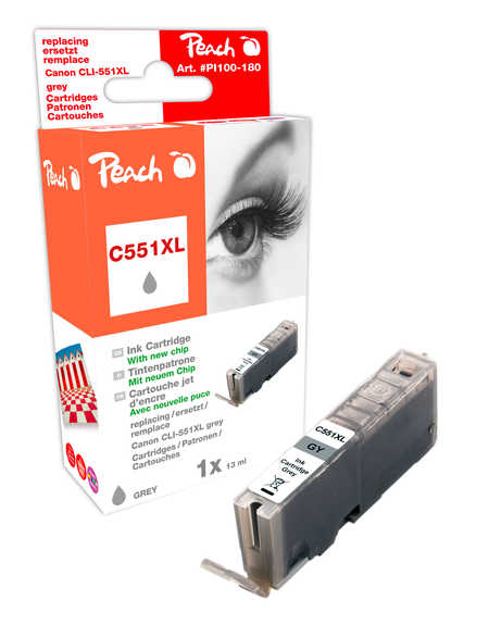 Peach  Ink Cartridge Photo grey compatible with ID-Fabricant: CLI-551gyXL Canon Pixma MG 6350