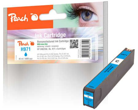 Peach  cartouche d'encre cyan compatible avec ID-Fabricant: No. 971, CN622AE HP OfficeJet Pro X 451 dw