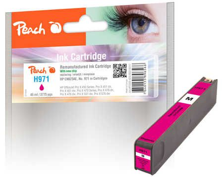 Peach  cartouche d'encre magenta compatible avec ID-Fabricant: No. 971, CN623AE HP OfficeJet Pro X 476 dn