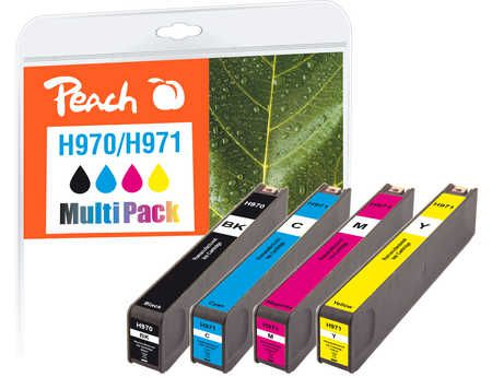 Peach  Combi Pack compatible avec ID-Fabricant: No. 970, No. 971 HP OfficeJet Pro X 451 dw