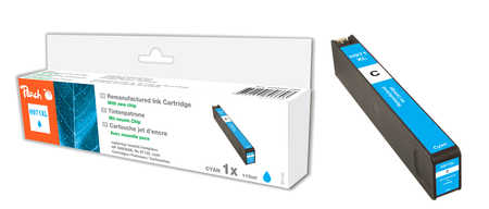 Peach  cartouche d'encre cyan HC compatible avec ID-Fabricant: No. 971XL, CN626AE HP OfficeJet Pro X 476 dn