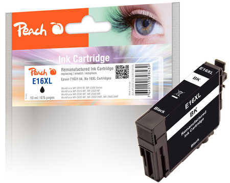 Peach Cartouche d'encre  noir, compatible avec ID-Fabricant: T1631, T163 Epson WorkForce WF-2530 WF