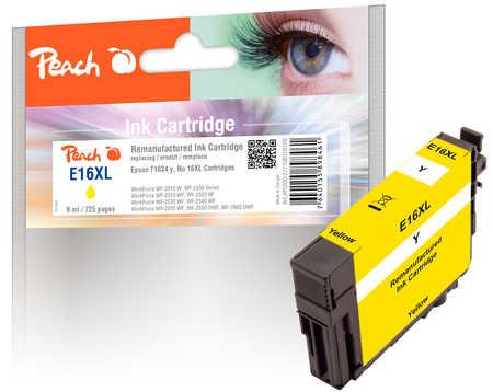 Peach Cartouche d'encre  jaune, compatible avec ID-Fabricant: T1634, T163 Epson WorkForce WF-2530 WF