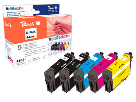 Peach Multipack Plus  compatible avec ID-Fabricant: T1636, T163 Epson WorkForce WF-2010 W