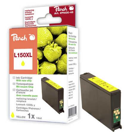 Peach Cartouche d'encre  jaune XL, compatible avec ID-Fabricant: No. 150XL Lexmark Pro 910 Series