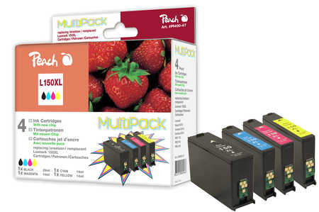 Peach  Multi Pack with chip, XL-Yield, compatible with ID-Fabricant: No. 150XL Lexmark Interpret S 415