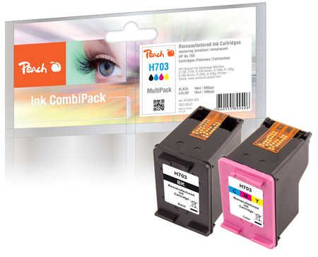 Peach  Multi Pack, compatible avec ID-Fabricant: No. 703 Series HP DeskJet Ink Advantage K 209 g